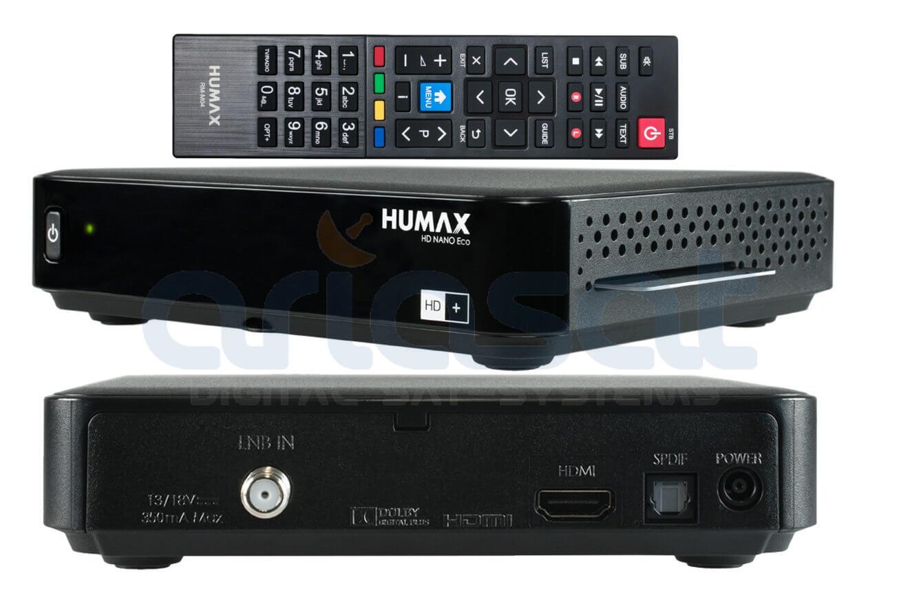 sat receiver hd+ karte 12 monate HUMAX HD Nano Eco 12 Monate!! HD+ Karte inklusive Sat Receiver