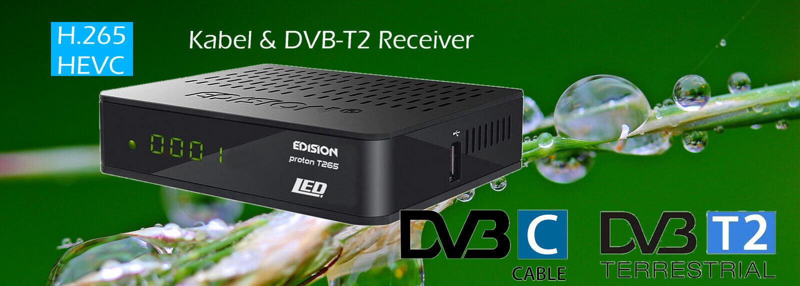 Kabel & DVB-T2 Receiver Edision