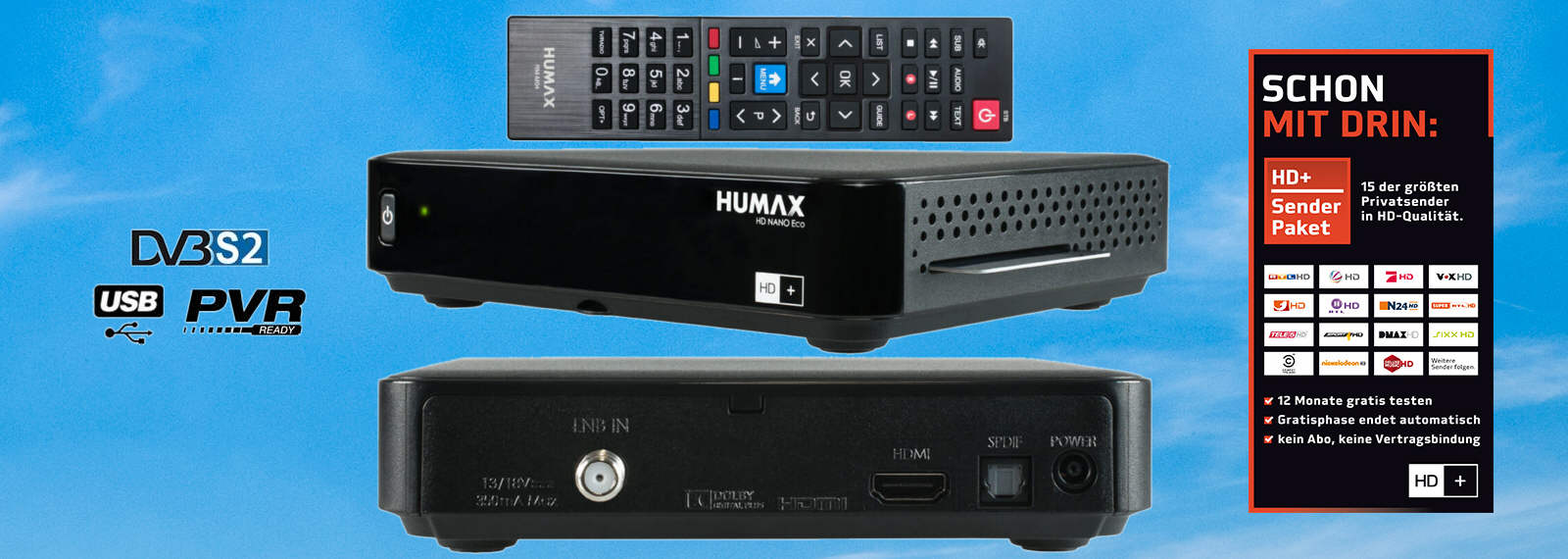 HUMAX HD Nano Eco 12 Monate HD+ Karte