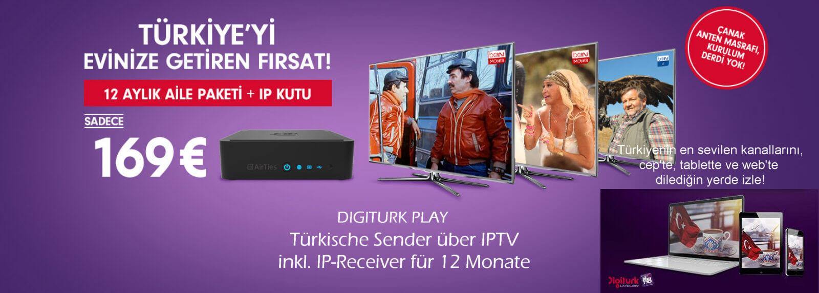 Digitürk Play Familien Paket 12 Monate | IPTV